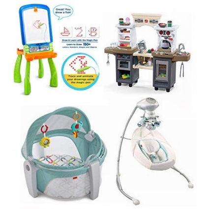 黑五专享:精选大量 Fisher-Price 费雪 婴幼儿用品、摇篮、儿童益智玩具、画板等4.1折起!