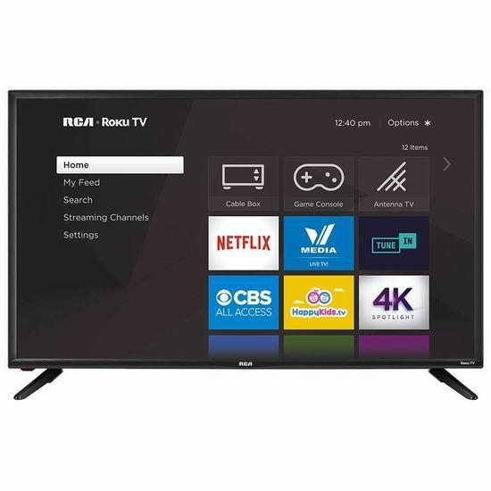 黑五专享:历史新低!RCA RTR4061 40英寸 Roku 智能电视 299.99加元包邮!