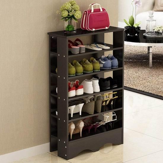Soges L15-BK-CA 5层式 木质鞋架 49-69加元限量特卖并包邮!2款可选!
