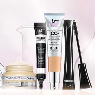 it Cosmetics网购星期一!全场满45加元享8折优惠+送中样+包邮!入CC霜、眼部遮瑕、化妆刷!