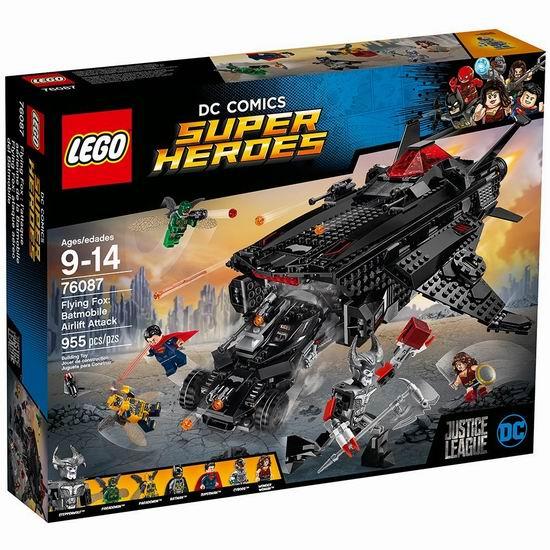 历史最低价!LEGO 乐高 76087 超级英雄系列 蝙蝠战车空运攻击(955pcs)6折 96加元包邮!会员专享!