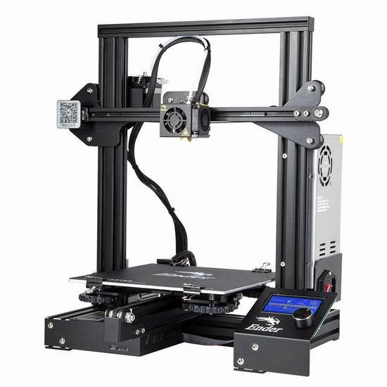 Comgrow Ender 3 Prusa i3 3D打印机DIY套件 253.6加元限量特卖并包邮!