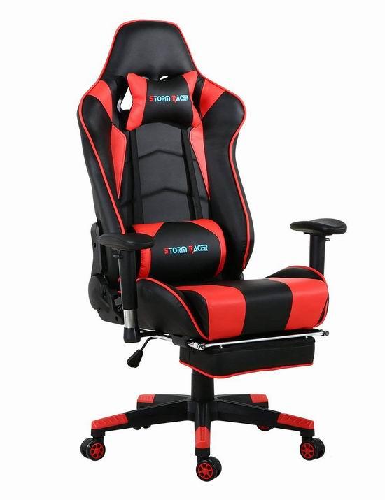 Storm Racer 人体工学 高靠背赛车办公椅/游戏椅 175.99加元限量特卖并包邮!多色可选!