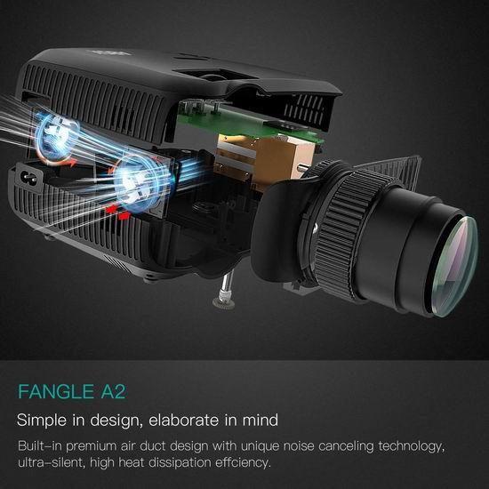历史新低!GooBang Doo ABOX A2 3000流明 家庭影院LED投影仪 131.99加元限量特卖并包邮!