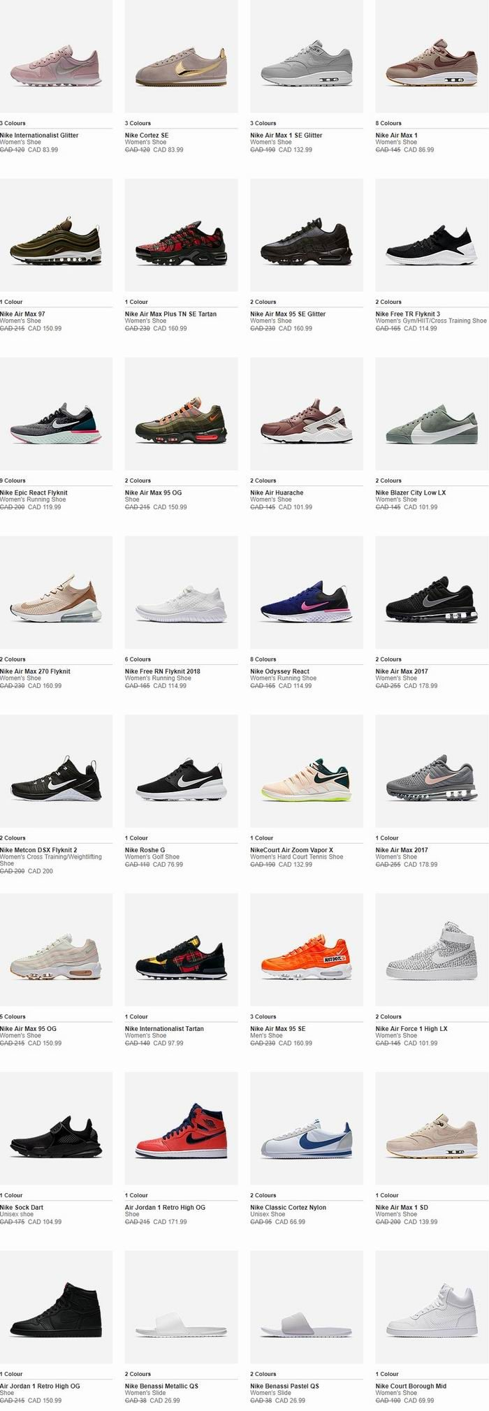 Nike黑五大促!精选上千款时尚运动鞋、运动服6折起+额外7折!收Air Max系列、Epic React Flyknit系列!