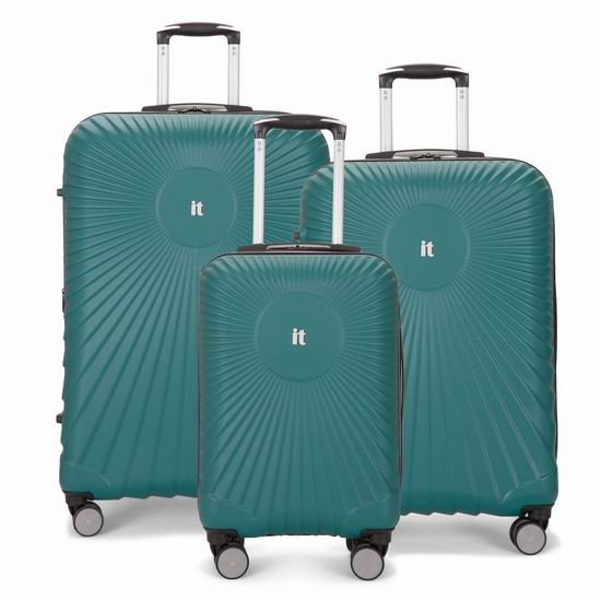 白菜价!英国 IT Luggage EOS 全PC 超轻硬壳 拉杆行李箱3件套(20/24/28寸)2.2折 149.99加元包邮!