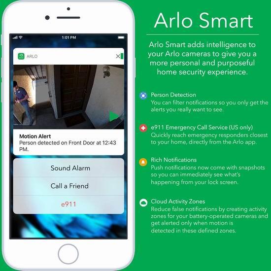 历史新低!新一代 Netgear 网件 Arlo 爱洛 Pro 2 高清智能安防系统 2无线摄像头+基站 449.98加元包邮!