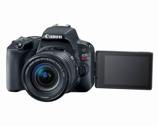 历史新低!Canon 佳能 EOS Rebel SL2 单反相机 + EF-S 18-55mm STM镜头套装 595加元包邮!