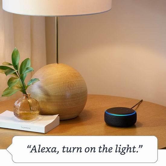 新品 Echo Dot 亚马逊第三代智能家居语音机器人 49.99加元包邮!3色可选!