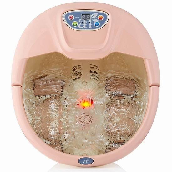 ArtNaturals 水疗加热按摩足浴盆 76.95加元包邮!