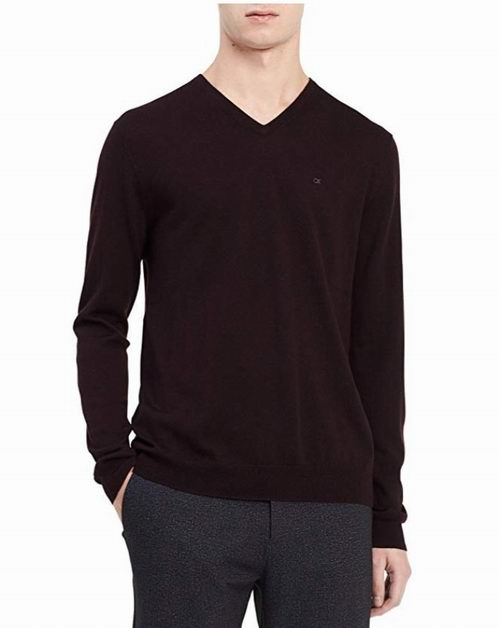 Calvin Klein Merino 男士超细美利奴羊毛 V 领毛衣 33.22加元(多色可选),原价 116.35加元