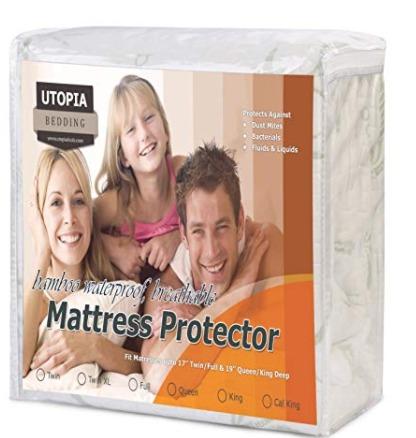 Utopia Bedding 竹纤维 防水防过敏Queen床垫保护套 27.99加元,原价 32.99加元