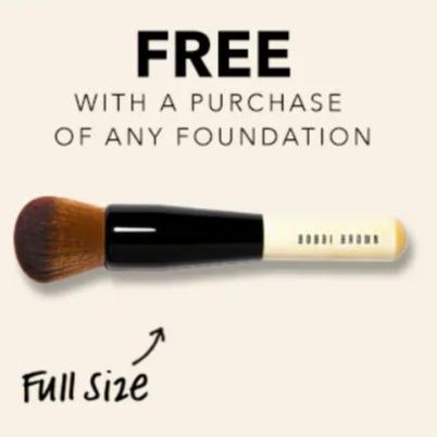 Bobbi Brown 芭比波朗 购买粉底送正装化妆刷,部分款7折优惠!