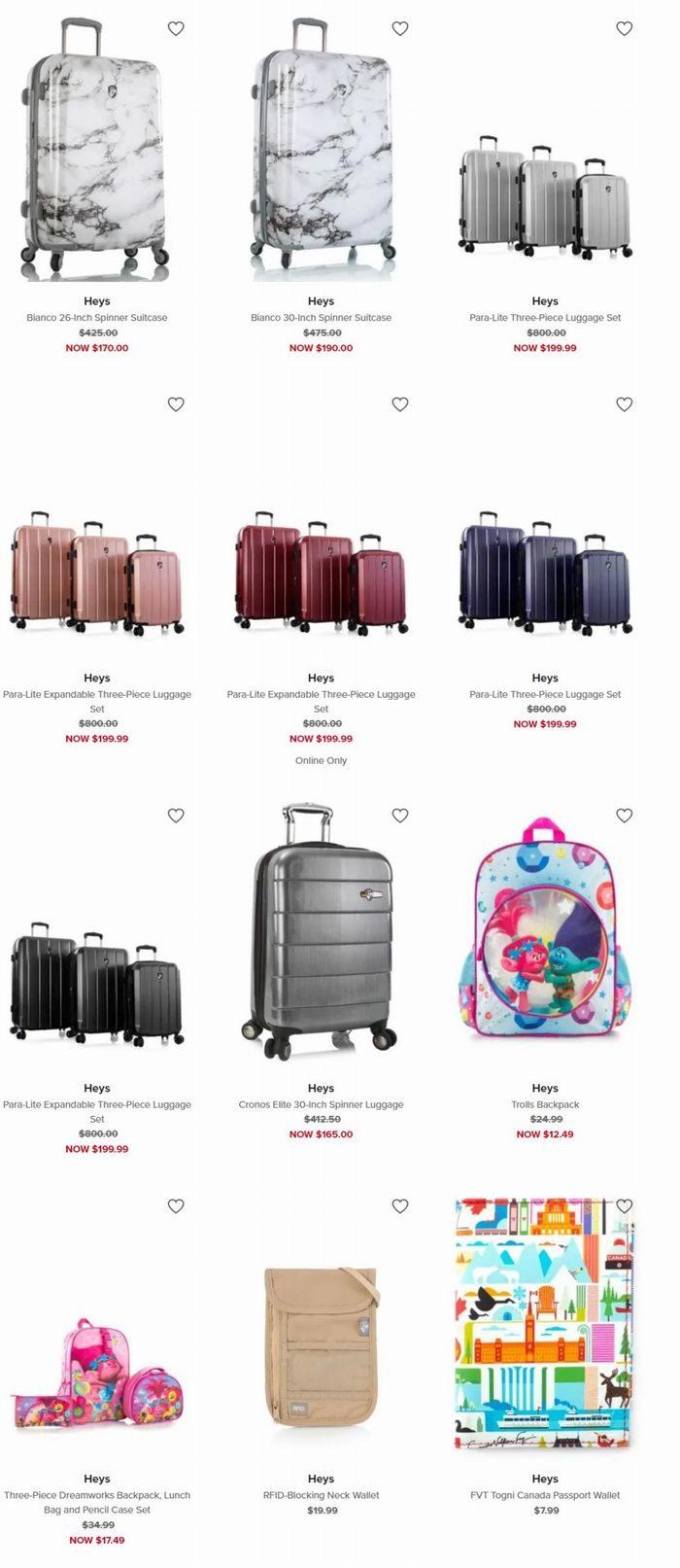 精选 Heys 拉杆箱行李箱 三件套 199.99加元(多色可选),原价 800加元,包邮