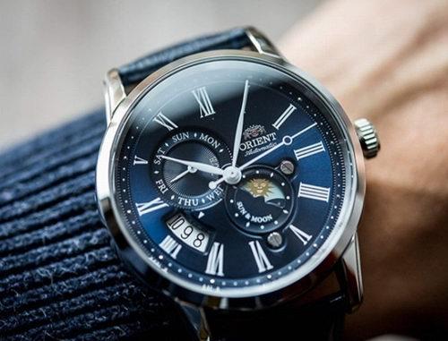 历史新低!Orient 东方双狮 FAK00002S0 自动月相 全自动机械 男士腕表/手表5.6折 258.15加元包邮!