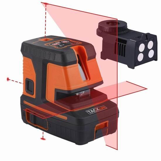Tacklife SC-L06 98英尺 自动调平 360度 交叉线 激光水平仪4.4折 69.97加元限量特卖并包邮!