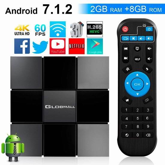 Globmall ABox MAX 4K超高清 网络电视机顶盒(2GB/8GB) 34.99加元限量特卖并包邮!