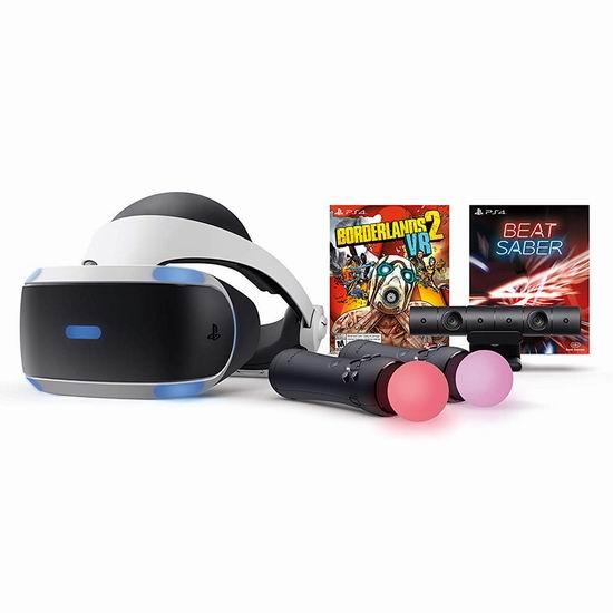 历史新低!PlayStation VR头显 + PS4体感摄像头 + 2 动态控制器 + 《无主之地2》 +《Beat Saber》超值套装 319.99加元包邮!