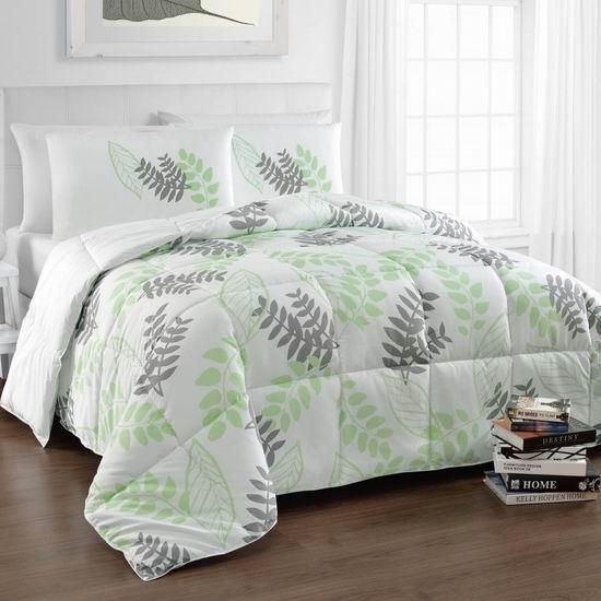 历史新低!Cozy Beddings BH5022-Q Tropical 双面Queen仿羽绒被3件套2.8折 34.41加元!