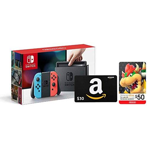 Nintendo 任天堂 Switch 便携式游戏机+30加元亚马逊礼品卡+50加元Nintendo eShop礼品卡 379.99加元包邮!