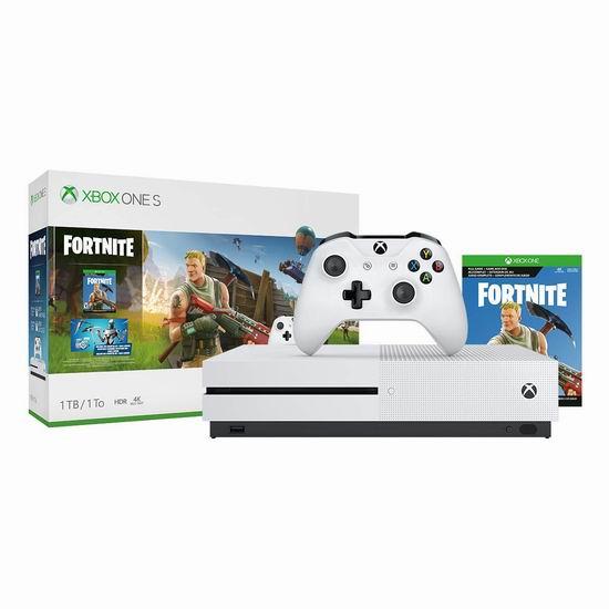 历史新低!Xbox One S 1TB 家庭娱乐游戏机+《Fortnite》游戏套装 289.99加元包邮!