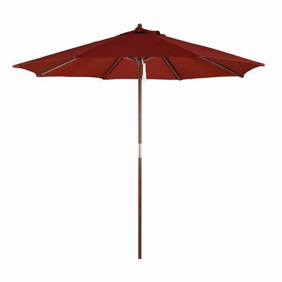 历史新低!California Umbrella 9英尺庭院遮阳伞2.8折 24.67加元!