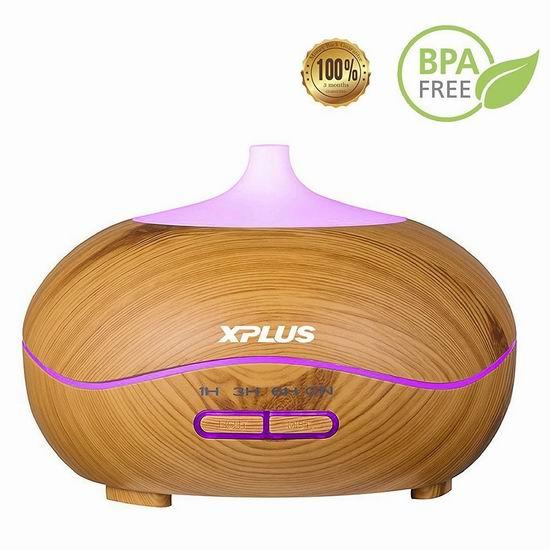历史新低!XPLUS 300ml 木纹精油香薰/加湿器 15.72-17.03加元限量特卖!5色可选!