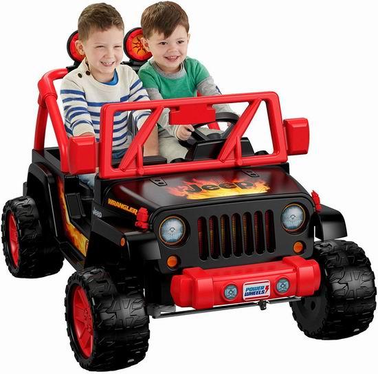 历史新低!Fisher-Price 费雪 Power Wheels 儿童双人座 牧马人 吉普电动车6.3折 251.99加元包邮!会员专享!