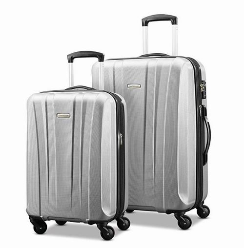 近史低价!Samsonite 新秀丽91823-1776 20/28寸 轻质硬壳行李箱2件套2.6折 157.7加元包邮!