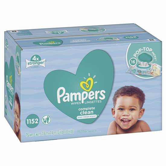 Pampers 帮宝适 Complete Clean 婴儿清洁湿巾(1152抽)超值装 18.50加元!
