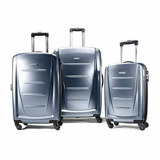 Samsonite 新秀丽 Winfield 2 宝石蓝 时尚硬壳拉杆行李箱3件套2.3折 280.72加元包邮!