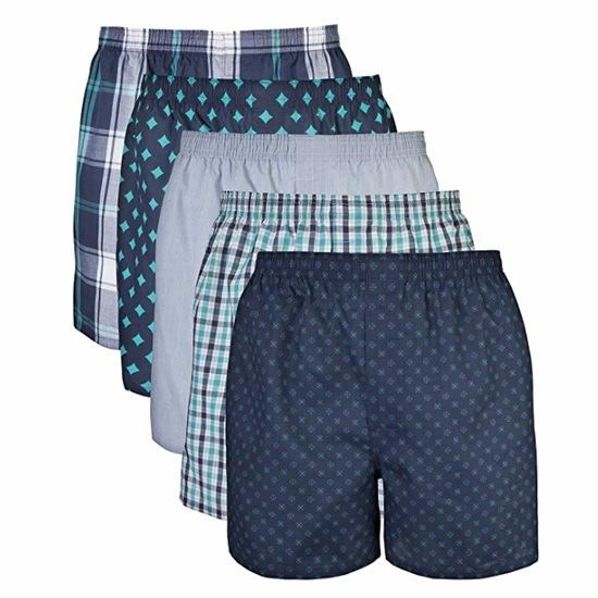 历史新低!Gildan Standard 男式四角内裤5件套超值装 10.92加元!2套可选!码齐全降!