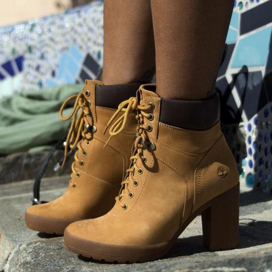 Timberland 添柏岚 Camdale 女式高跟大黄靴 93.34加元包邮!3色可选!码齐全降!