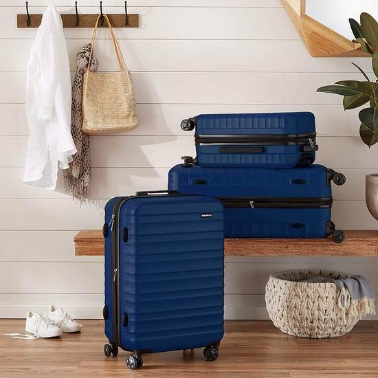 历史新低!AmazonBasics 20/28寸 可扩展 硬壳 拉杆行李箱2件套 98加元包邮!