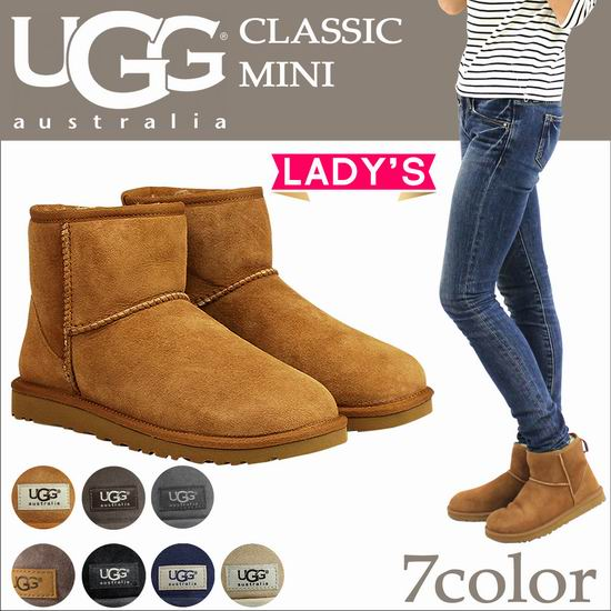 UGG Classic Mini Ii 皮毛一体 女士雪地靴 122.5加元包邮!3色可选!