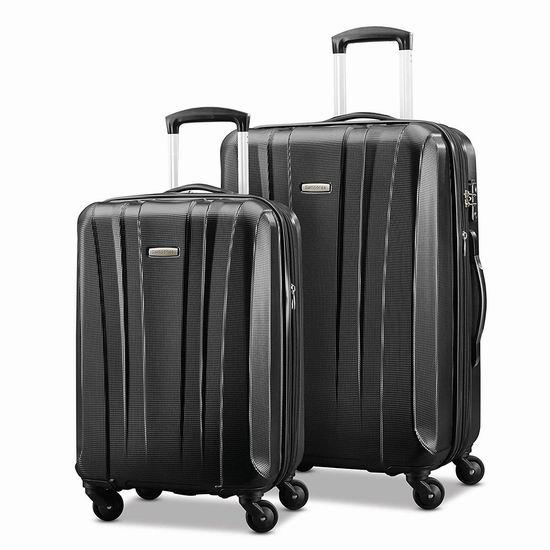 近史低价!Samsonite 新秀丽91823-1041 20/28寸 轻质硬壳行李箱2件套2.7折 161.66加元包邮!