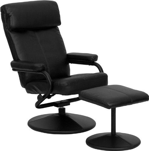 Flash Furniture BT-7863-BK-GG 黑色皮制舒适躺椅+脚踏5.2折 151.9加元包邮!