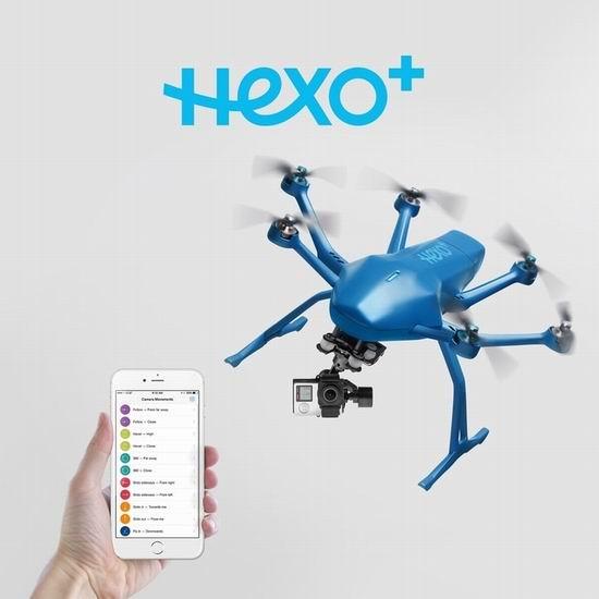 超级白菜!Hexo+ Drone 跟拍神器 高速航拍无人机2折 99.98加元包邮!