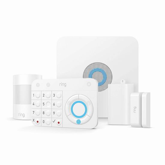 圣诞专享:历史新低!新款 Ring Alarm 专业家庭全屋安防监控系统 229加元包邮!