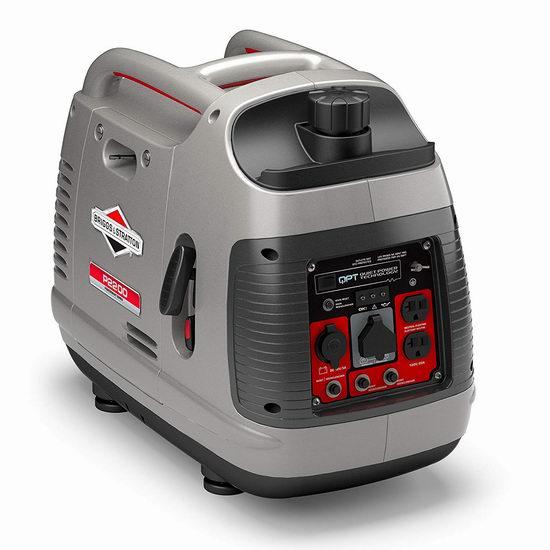 售价大降!历史新低!Briggs & Stratton 30651 P2200 PowerSmart 2200瓦便携式 静音变频发电机5.5折 499.99加元包邮!