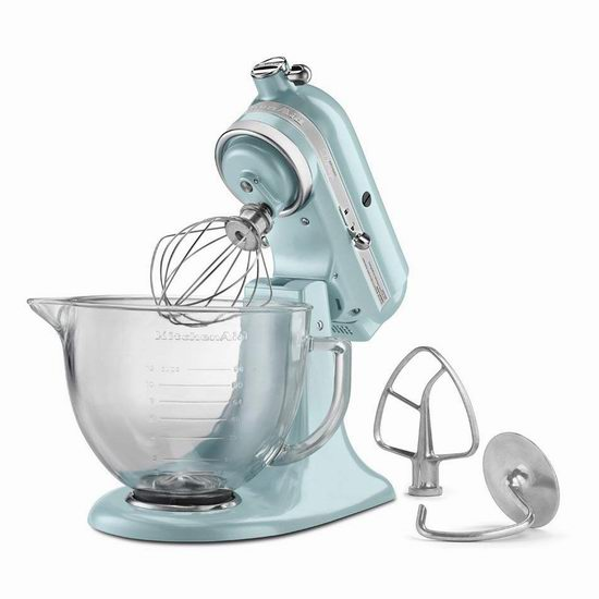 KitchenAid KSM155GBFP Artisan 5夸脱 多功能搅拌机/厨师机4.2折 254.15加元包邮!