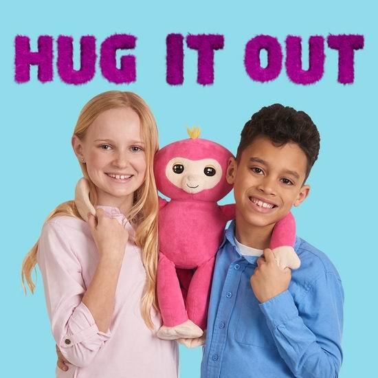白菜价!超有趣 Fingerlings HUGS 智能互动 毛绒抱抱猴3折 12.03加元清仓!