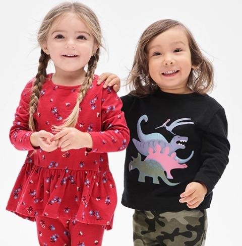 最后一天!精选Gap成人儿童服饰4折起+额外6折+额外9折+包邮!入超可爱的宝宝服饰!