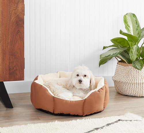 AmazonBasics Octagon  八角形宠物床22.41加元,原价 37.43加元