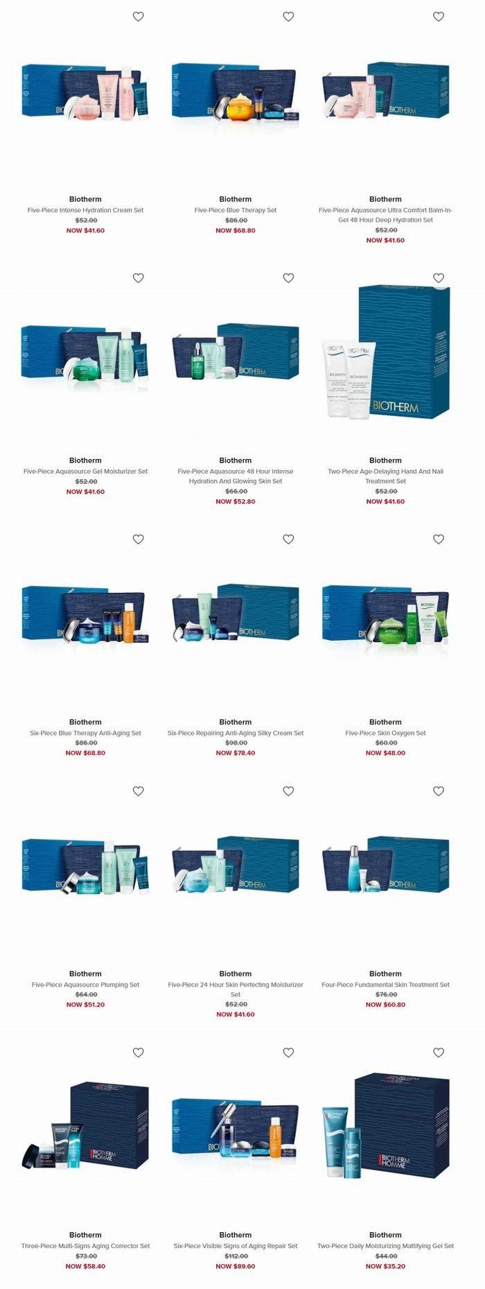 精选 Biotherm 碧欧泉 超值套装 8折+满75立减10加元!