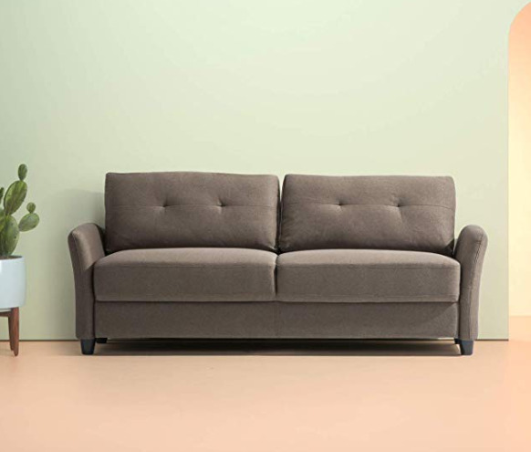 销售第一!Zinus Contemporary 78.4英寸双人沙发 347加元,原价 644.34加元,包邮