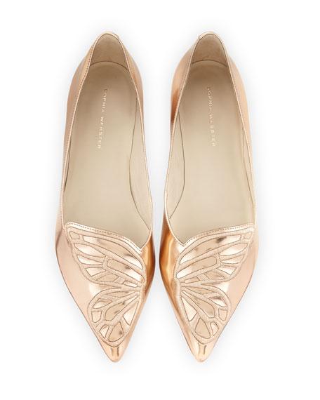 Sophia Webster 玫瑰金尖头平底鞋 276加元(36码),原价 475加元,包邮