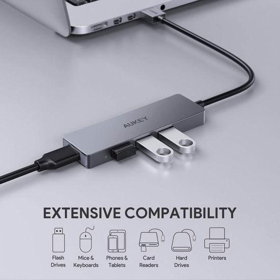 独家:历史新低!AUKEY USB 3.0 Hub 便携式4口USB集线器 14.99加元!