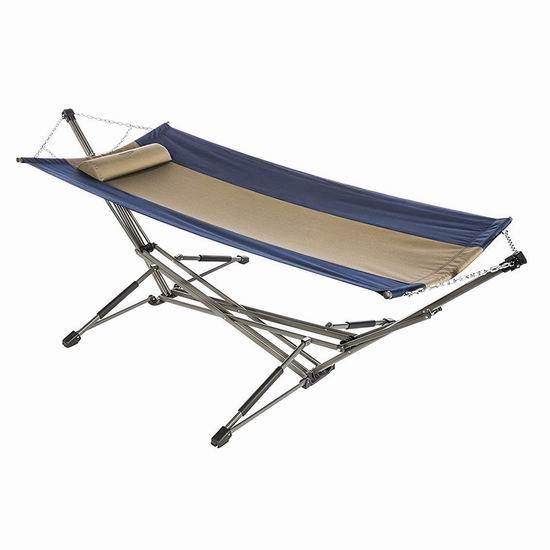 历史新低!Kamp-Rite Kwik 便携式吊床+支架套装4折 69.34加元清仓并包邮!