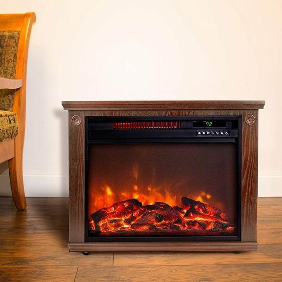 白菜速抢!历史新低!LIFESMART 木纹红外电暖壁炉1.8折 89.97加元包邮!